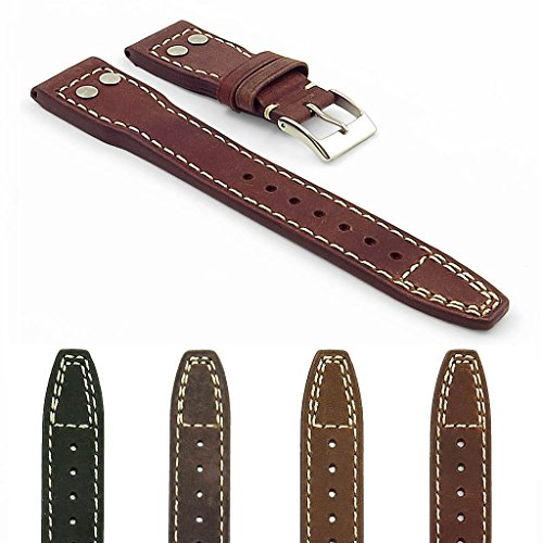Dynasty Leather Watch (DASSARI Dynasty Vintage Leather Watch Strap Big Pilot)