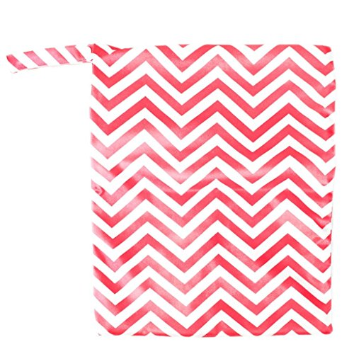 jellbaby doble cremallera impresión bolsa de pañales bolsa impermeable rojo rosso Talla:28cm x 30cm rosso