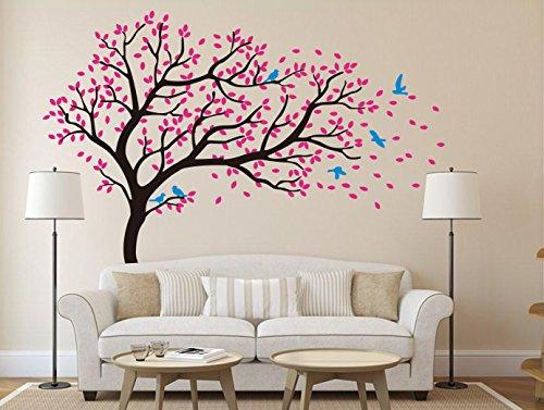 pink cherry blossom tree wall