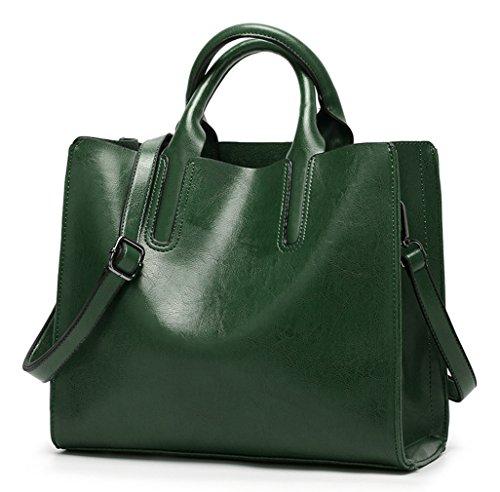 HopeEye mujer Tendencias de la moda Cuero De La Pu Bolso de mujer(dwpj16-1-Brown) 6-verde