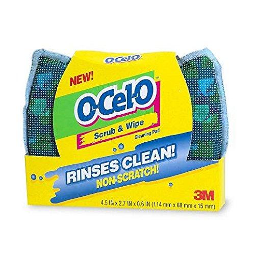 """O-Celo Sponge O-Cel-O Scrub/Wipe 4.5"""" x 2.7"""" x 0.5"""""""