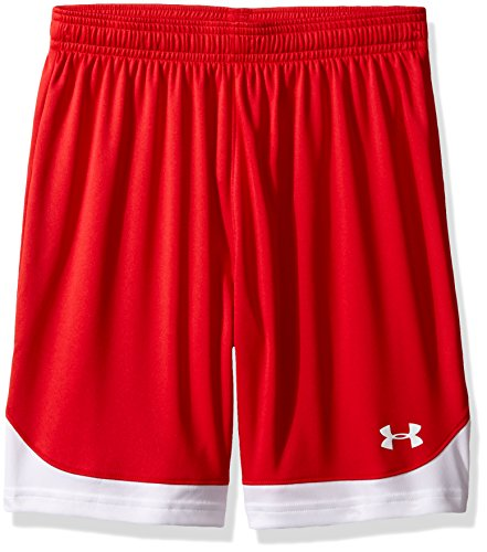 Under Armour Boys' Maquina Shorts, Red (600)/White, Youth -