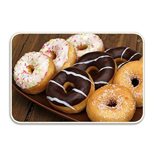 FunnyLife Donuts Chocolate Glaze Door Mat Front Welcome Entrance Doormat 16x24 inch