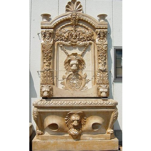 天然 大理石 彫刻 ライオン壁泉 B00FGR2VB8