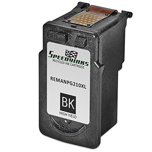 Speedy Inks - Canon PG-210XL PG210XL PG210 HY Black Remanufactured Inkjet Cartridge for PIXMA iP2700 iP2702 MP270 MP280 MP480 MP490 MP495 MP499 MX320 MX330 MX340 MX350 MX360 MX410 MX420