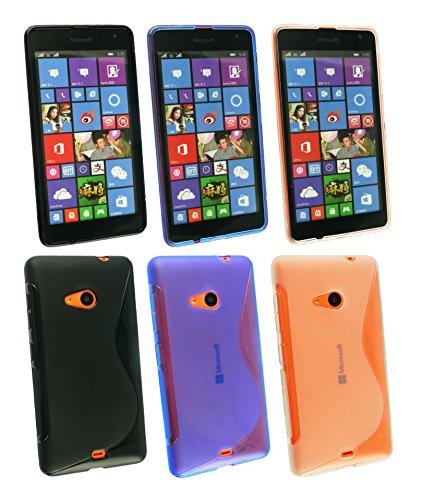 Emartbuy® Microsoft Lumia 535 / Lumia 535 Dual Sim Gel Piel Case Cover Paws Paquete de 3 Gels