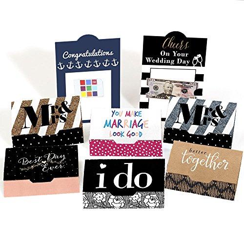 Gift Card Holder Set (Assorted Wedding Cards - Wedding Money and Gift Card Holders - Set of 8)