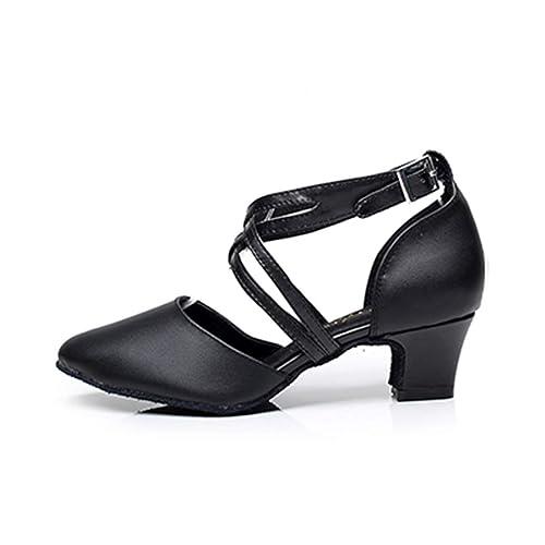 Amazon.com: Zapato de baile latino de piel sintética de ...