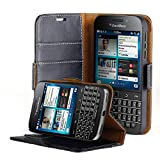 used apple ca books - AceAbove Blackberry Classic Case, Premium Genuine Leather Wallet Case with Kickstand and Card Slots (Black) for Blackberry Classic (Q20) 2014 Model