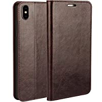 Huawei P9 Leather Case, Orlegol Premium PU Leather Flip Wallet Case Cover Huawei P9 Phone Case with Magnetic Button Card Slots Stand Case Shockproof Bumper Case for Huawei P9 Book Cover Case - Black