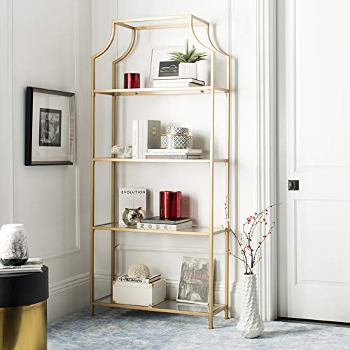 - Safavieh FOX6298B Home Collection Slater 4 Tier Etagere, Gold