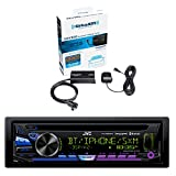 JVC Single DIN Bluetooth In-Dash CD/AM/FM Car Stereo and Sirius Vehicle Satellite Radio Tuner