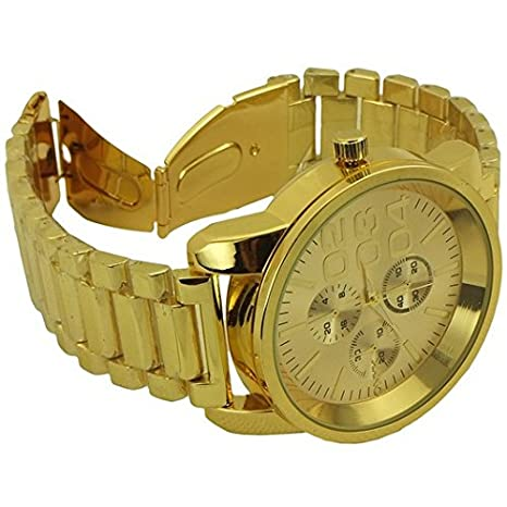 Amazon.com: Onyk fashion and sport style watches for men gold tone - 10: Watches