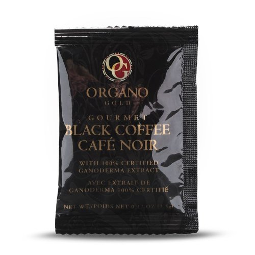 7 Boxes Organo Gold Gourmet Cafe Noir, Black Coffee 100% Certified Ganoderma Extract Sealed (1 Box of 30 Sachets) by Organo Gold (Image #2)