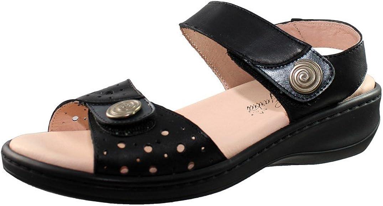 Sandalias con cuña pequeña de Piel con Plantilla de Piel Acolchada con Gel Muy cómodas Hechas en España: Amazon.es: Zapatos y complementos