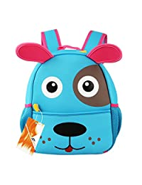 Children Toddler Kid's Backpack 3D Zoo Animal Cartoon Pre School Backpack Dog Blue