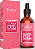 Purest Naturals Organic Jojoba Oil - Best Carrier Oil For Face, Skin, Hair & Nails + Sensitive & Dry Skin - Key Nutrients, Fatty Acids & Vitamins C & E - Unrefined, Cold Pressed & 100% Pure