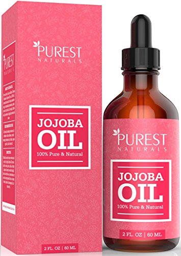 Purest Naturals Organic Jojoba Oil - Best Carrier Oil For Face, Skin, Hair & Nails + Sensitive & Dry Skin - Key Nutrients, Fatty Acids & Vitamins C & E - Unrefined, Cold Pressed & 100% Pure by PUREST NATURALS