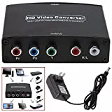 Jahyshow 4K HDMI to YPbPr Component 5RCA V1.4 RGB Converter Adapter and R/L Audio Output for Macbook Apple TV Amazon Fire TV Blu-Ray DVD PS4 DVD, PSP, Xbox 360