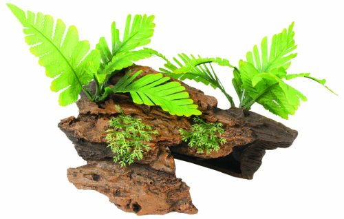 Marina Naturals Malaysian Driftwood with Plants, Medium by Marina