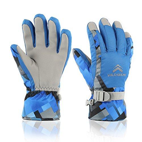 Ski Gloves,DUZCLI Winter Warm Camo Waterproof Snow Gloves For Men,Women,Boys
