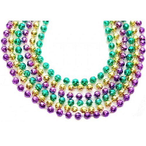 Elite Choice Party Beaded Mardi Gras Necklaces - 33