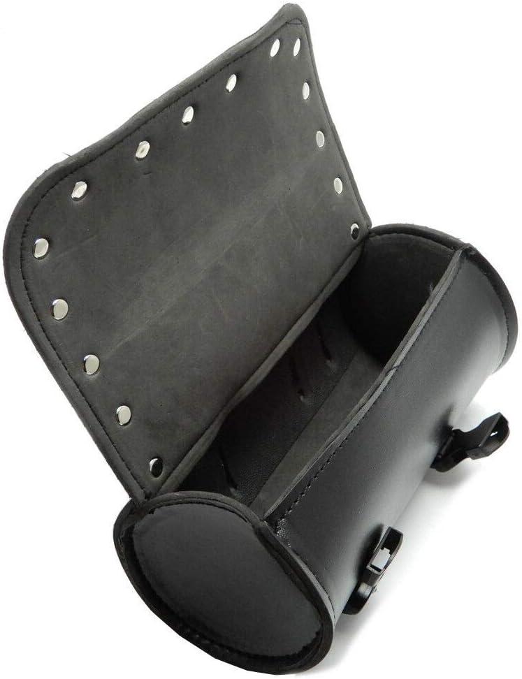 AKDSteel 1set Motorcycle Handlebar Sissy Bar Bag Saddlebag Fork Roll Barrel Bag for Touring auto Part