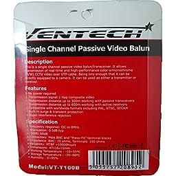 VENTECH NEW 40 pair (80 Pcs) Video Balun HD Transceiver Pair Gold Plated BNC extra