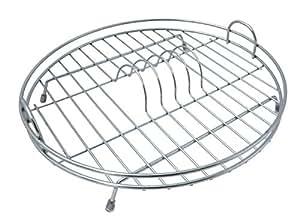 Amazon.com: Delfinware Circular Flat Dish Drainer, Polished Chrome ...