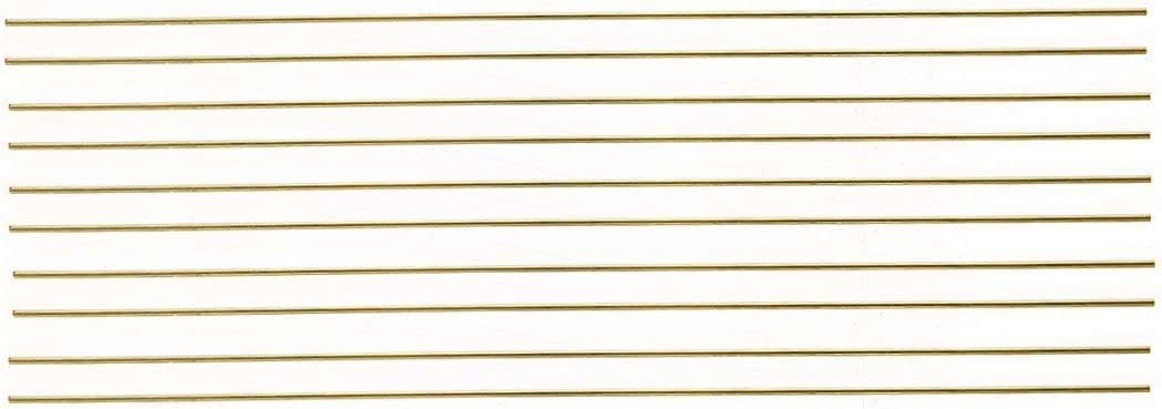 Kamas 10pcs//lot New 1.6 x 250mm Welder Brass Rods Bar Solid Round Rods Wires Sticks for Repair Welding Brazing Soldering