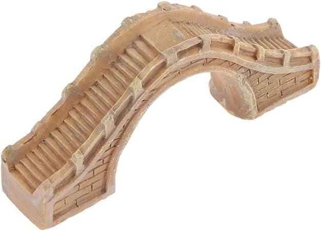 Micro Paisaje Pasarela Peatonal Semicircular Puente Artesanal Decoración Color Amarillo: Amazon.es: Juguetes y juegos