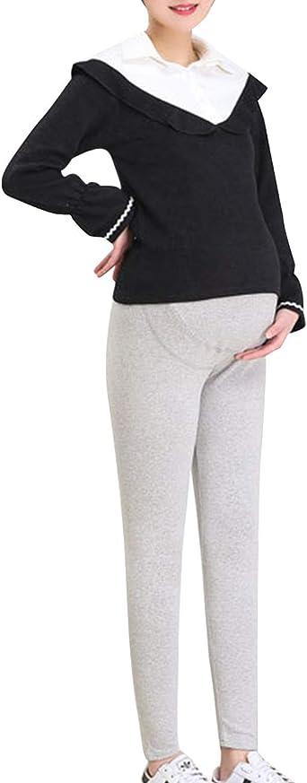 Zhhlinyuan El Embarazo De Las Mujeres Señoras Longitud Total Pantalones Maternidad Leotardos - Embarazada Enfermería Vestir Suave Algodón Pantalon: Amazon.es: Ropa y accesorios