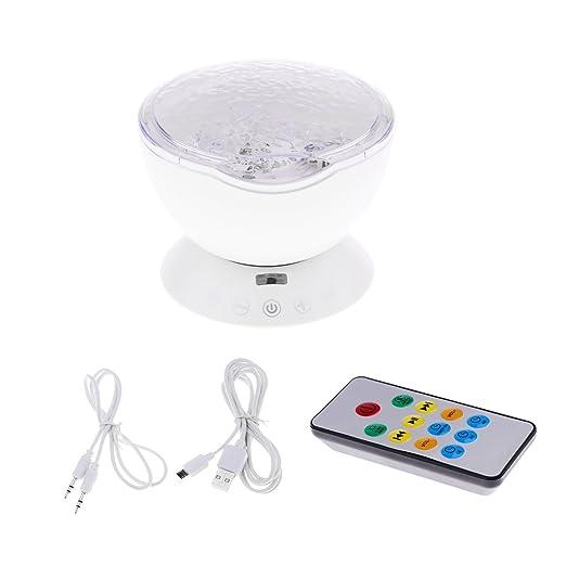 P prettyia Luz Proyector océano Onda con MP3 altavoz ...