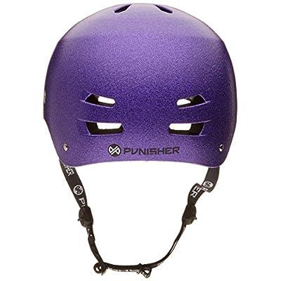 Punisher Skateboards Pro Youth 13 Vent Bright Flake Dual Safety Certified BMX Bike & Skateboard Helmet, Purple, Medium : Sports & Outdoors