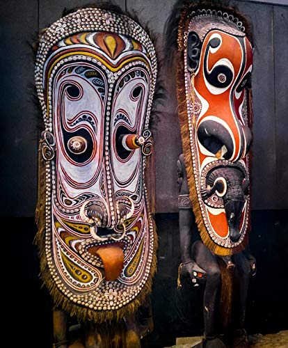 Home Comforts Laminated Poster Mask Sculptures Wood Sculptures Papua New Guinea Vivid Imagery Poster Print 11 x 17