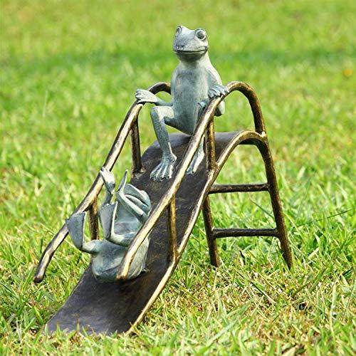 SPI Home Aluminum Sliding Frogs Garden Sculpture