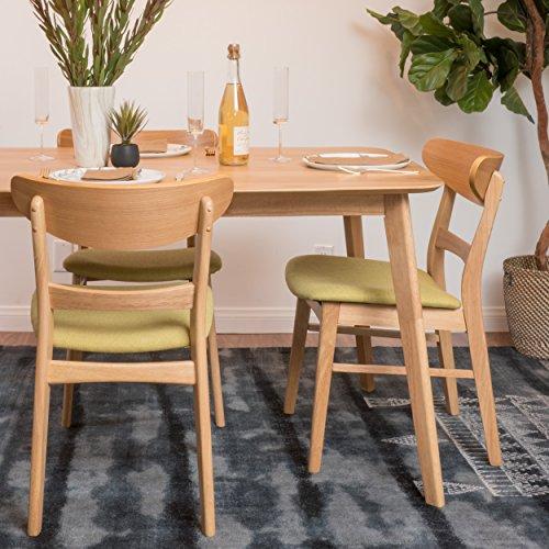 Christopher Knight Home 298968 Italia Green Tea Fabric/Oak Finish Dining Chair,