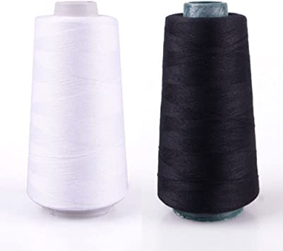 Thread 3000-Yard Polyester Yarns Quilting Spool for Serger Sewing Machine HLD