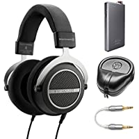 BeyerDynamic Amiron Home Tesla High-End Audiophile Stereo Headphones - 250 OHM (717525) with A5 Portable Headphone Amplifier, HardBody Headphone Case Black & 3.5mm-to-3.5mm Stereo Audio Cable
