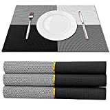 TISSAJ PVC Dining Table Kitchen Placemats(30cm x 45 cm/11inch x17inch), 4 Pieces, 1 Set (DESIGN5)