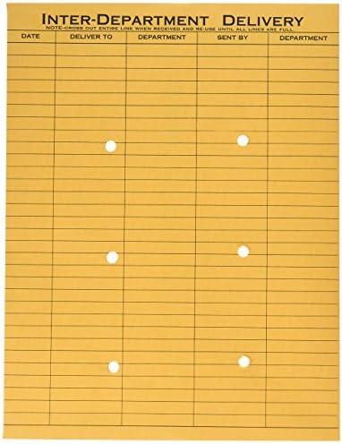 QUA63778 Quality Park Gray//Red Paper Gummed Flap Confidential Interoffice Envelope