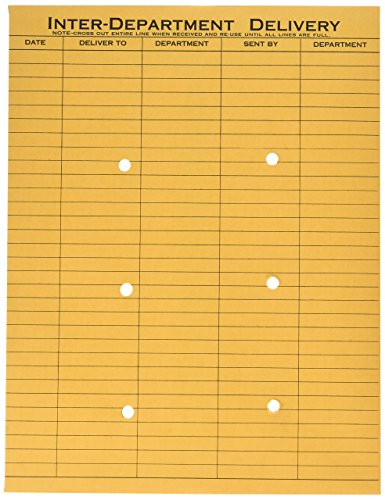 Park Interoffice Envelopes Quality (Quality Park 63664 Quality Park Resealable Interoffice Envelopes, 1-Side Print, 10x13,Kraft,100/Bx)