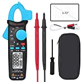 BSIDE ACM82 Digital Clamp Meter True RMS Auto-Ranging 6000 Counts AC Current Temperature Capacitance Frequency Voltage Ohm Live Check V-Alert Tester with Back Clip
