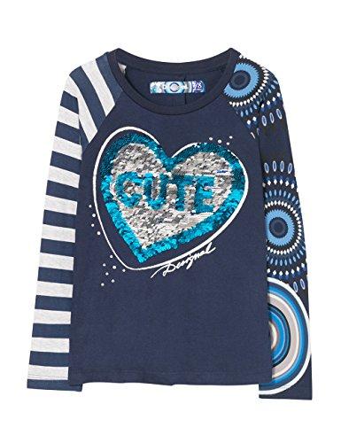 Desigual Girl Print Saskatchewan 5040 Shirt T Multicolor mezzanotte OqzwPa5a