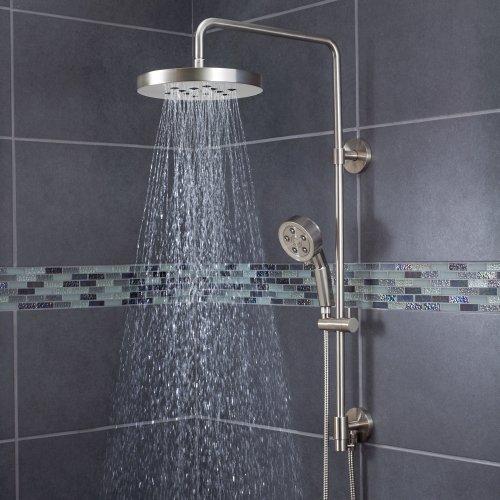 Gentil Speakman SWS 1003 BN Round Rain Shower Head With Handheld Combo Shower  System And Adjustable Slide Bar, Brushed Nickel   Shower Arms And Slide  Bars ...