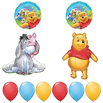 Amazoncom 18 Winnie The Pooh Happy Birthday Balloon Toys Games