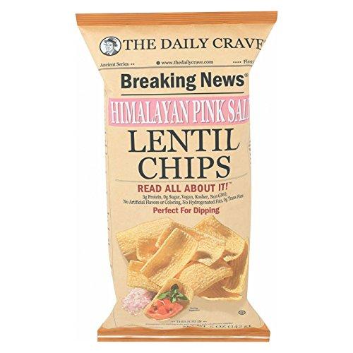 The Daily Crave Lentil Chips - Himalayan Pink Salt - Case of 8-5 oz. - Himalayan Lentils