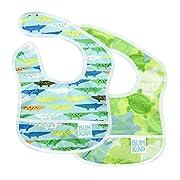 Bumkins Baby Bib, Waterproof Starter Bib 2 Pack (680/913-Crocs/Turtles) (3-9 Months)
