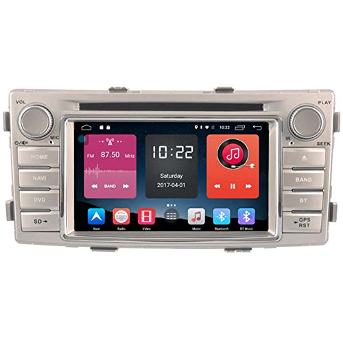 Autosion In Dash Android 6.0 Car DVD Player Sat Nav Radio Head Unit GPS Navigation Stereo for Toyota Hilux 2012 2013 2014 2015 TPMS LTE 4G Support Bluetooth SD USB Radio WIFI DVR 1080P by Autosion