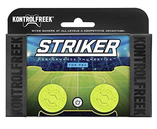 KontrolFreek Striker for PlayStation 4 (PS4) Controller | Performance Thumbsticks | 2 Low-Rise | Green (Best Rocket League Ps4 Controls)